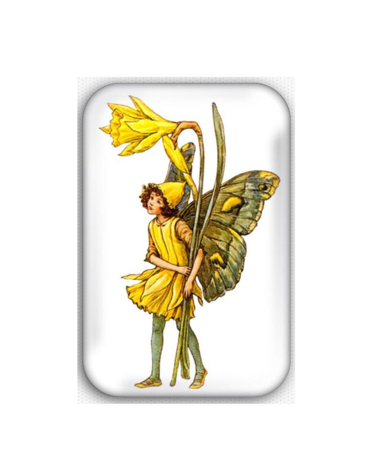 Fairy Fridge Magnet (44x68mm, refrigerator, decoration, vintage, faeries)