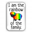 I Am The Rainbow Sheep Refrigerator Magnet (44x68mm, gay pride)