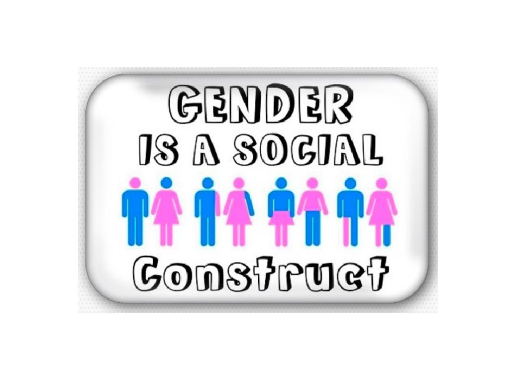 Gender Is A Social Construct Refrigerator Magnet (44x68mm, gay pride)