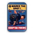 WW2 Propaganda fridge Magnet (memorabilia, world war ii, military, poster, vintage)