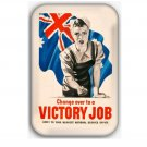 WW2 Propaganda fridge Magnet (memorabilia, world war ii, military, poster, vintage)