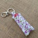 Lip Balm Floral Keychain (Chapstick Holder, keyring)