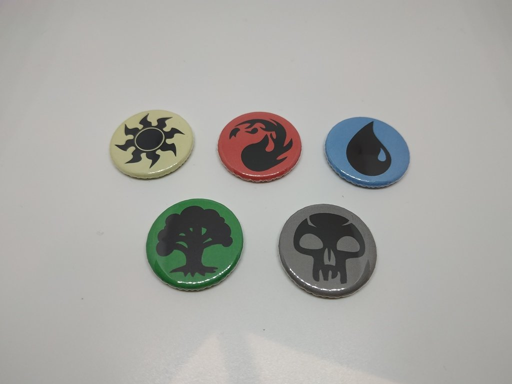 5 x Magic The Gathering Buttons (1inch, badges, pinbacks)