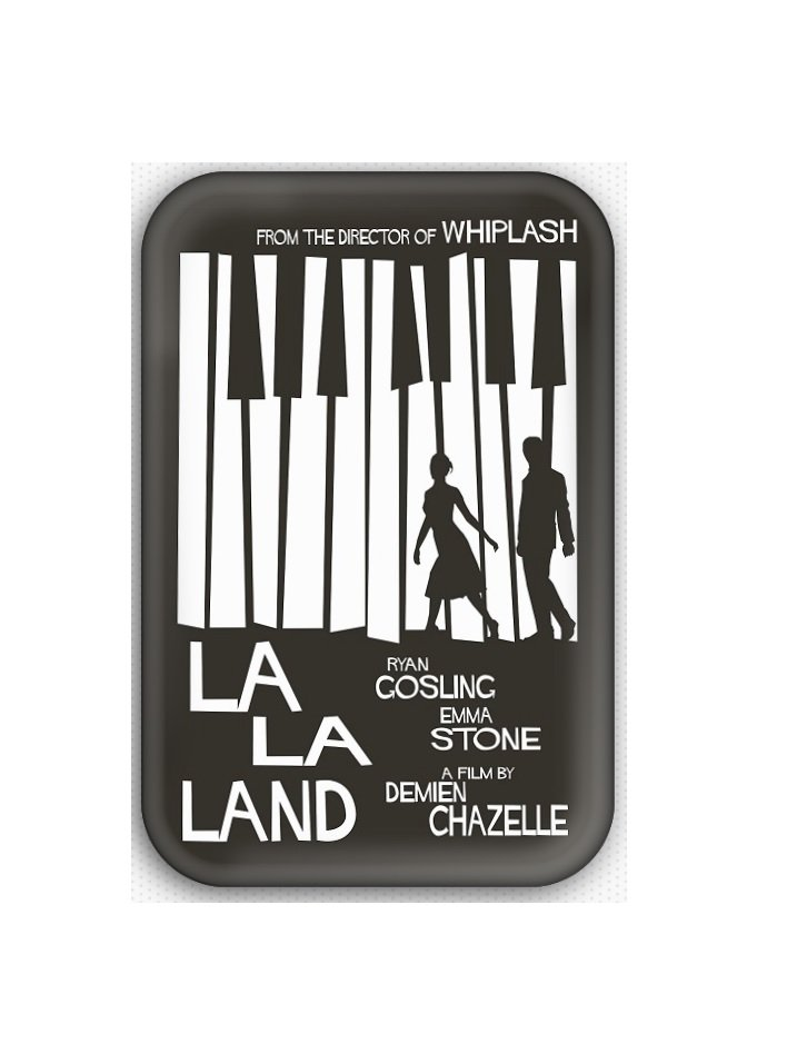 La La Land Movie Fridge Magnet (refrigerator magnet, poster)