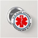 Ich Habe Asthma Button rohlinge (medical alert, badge, pin, 25mm)