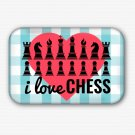 I Love Chess Fridge Magnet (68x44mm, refrigerator magnet)