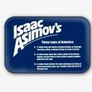 Isaac Asimov's Three Laws Of Robotics Fridge Magnet (68x44mm, refrigerator magnet)