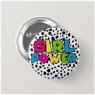 Girl Power Button (25mm, badges, pins, girl power, smash patriarchy,feminist)