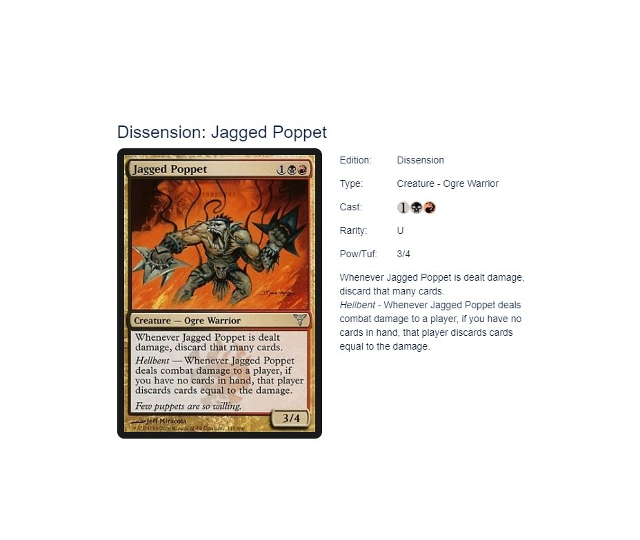 Jagged Poppet - Magic The Gathering -  MTG Singles - Uncommon