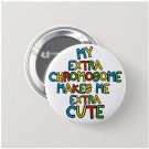 Down Syndrome button (badges, pins, medical alert)