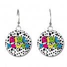 Girl Power button earrings (25mm, 1inch)