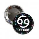 Zodiac Sign Cancer button (1inch, badges, pinbacks, horoscope, astrology)