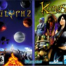 PC GAME KUROS & GLYPH 2 Win XP Thru Win 10  (2 Pack) Sealed