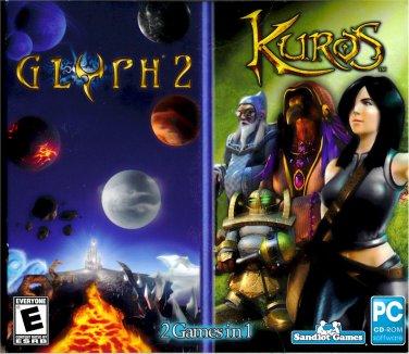 PC GAME KUROS & GLYPH 2 Win XP Thru Win 10  (2 Pack) Sealed