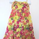 Cherokee - Yellow/Pink Floral Sundress w/Ruffles, Adj. Straps, Girls 6/6X