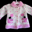 Kidget - Cute Poodle Furry Pink/Wte Poly Jacket Baby Girls Size 0-3 Mo.