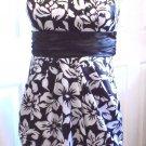 Speechless - Ladies/Girls Blk & Wte Floral Strapless Dress  Juniors 5