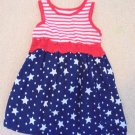 Healthtex - Cute & Cool Multi Colored Patriotic/Anytime Dress Girls 24Mo
