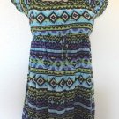 Speechless -  Southwestern Style Dress w/Straps & Sleeves Ruffles Girls Sz 8