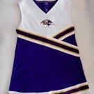 NFL Team Apparel Baltmore Ravens Poly Football Girls Cheerleader Dress 4T