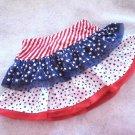 3 Star Anytime/Patriotic USA Fancy Tiered Skirt/Skort Baby Girls 2T