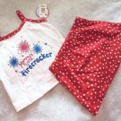 WonderKids Mommy's Little Firecracker Patriotic 2 Pc Outfit Girls 18 Mo NWT