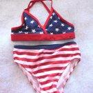 Faded Glory - Patriotic 2 pc Bikini Swimsuit Multi Colored Girls Size 24 Mo.