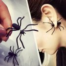 Halloween Black 3D Spider Charm Ear Stud Earring Gift Party Fancy NIP USA Ship