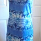 Savvy - NWT Blue Summer Hawaiian Palm Trees Knee Length Dress Ladies Size XL