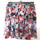 Ambiance Apparel - Pretty Spring/Summer Floral Skirt w/Elastic Waist Sz Med 8-10