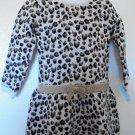 Healthtex - Animal Print Blk/Brn w/Cream Background, LS, Sparkly Belt Girls Sz 4