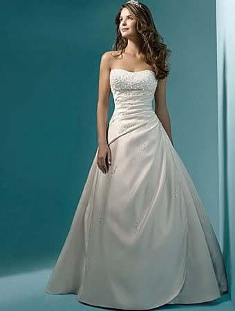 2017 Classic Design Perfect Casamento Pearl A line Strapless Wedding Gown