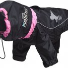 New $67 Helios Weather King Small Full Body Dog Coat - Pink Black