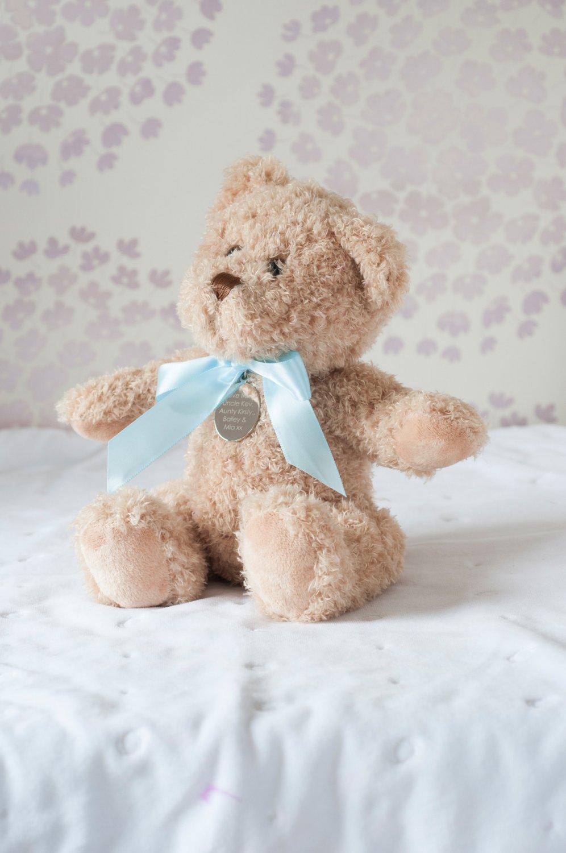 Small New Baby Boy Personalised Bramble Bear