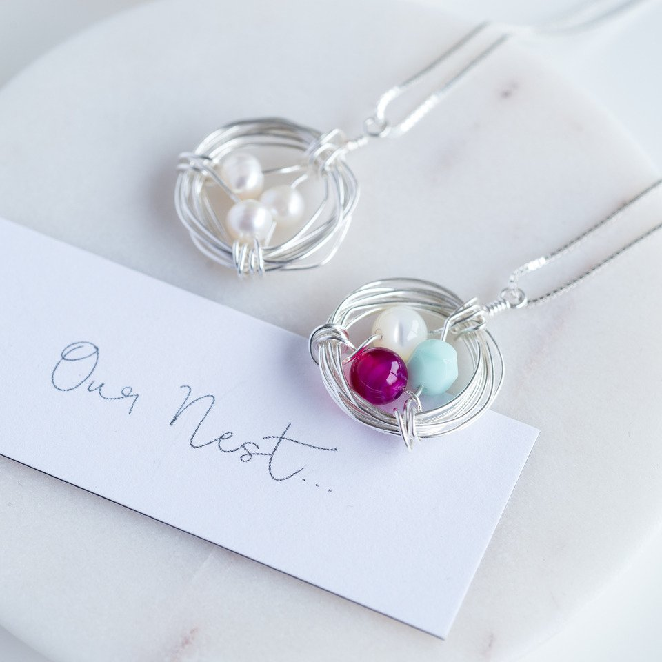 'Our Nest' Birthstone Necklace