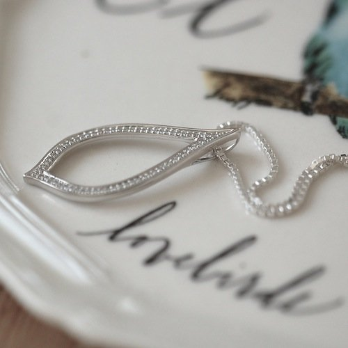 Open Teardrop Diamond Necklace