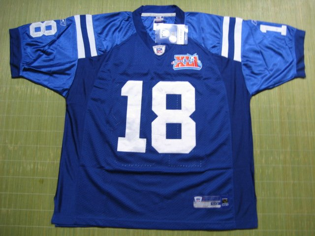 NFL #18 Indianapolis Colts Manning Jersey size 48/50/52/54