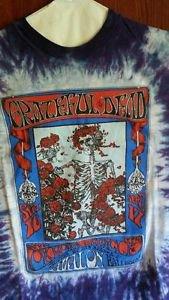 Grateful Dead T Shirt Vintage ORIG RARE 1966 AVALON Family Dog Skeleton Roses XL