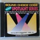 8517 70'S & 80'S COUNTRY HITS VOL. 11 CD+ G Sound Choice Spotlight Karaoke Rare