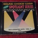 SC 8502 90's COUNTRY - VOL.1 spotlight CD+G Sound Choice Karaoke VERY RARE