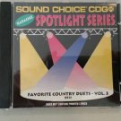 SC 8511 FAVORITE COUNTRY DUETS VOL.3 SPOTLIGHT SOUND CHOICE KARAOKE CD+G RARE