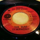 SURF ROCK 1969 THE SURF SYMPHONY - NIGHT OF THE LIONS 45 PROMO P-2623 VG+ RARE!!
