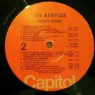 The BEATLES ABBEY ROAD LP RARE 1976 orange CAPITOL label VG / G+ PLAYBACK EXCEL