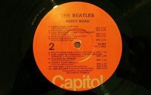 The BEATLES ABBEY ROAD LP RARE 1976 orange CAPITOL label VG / G+ PLAYBACK EXCEL
