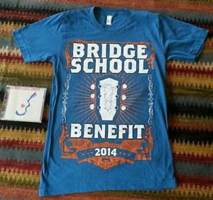 Pearl Jam Bridge School Benefit SM Men's Shirt Year 2014 Blue CD Bridge Concerts