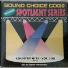 SC 8512 COUNTRY HITS VOL.108 SPOTLIGHT SOUND CHOICE KARAOKE CD+G RARE