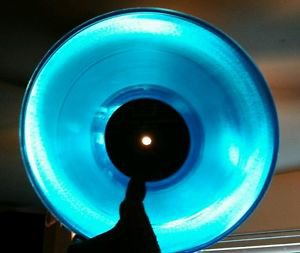 "Electric Skychurch Creation 12"" Blue Vinyl Record Single 1994 Moonshine Music EX"