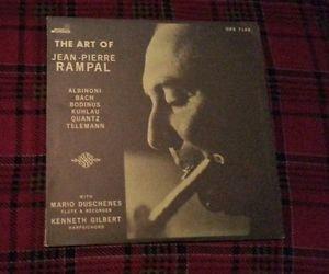 THE ART OF JEAN PIERRE RAMPAL RARE CLASSICAL LP! BACH ALBINONI TELEMANN KUHLAU