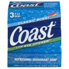 Coast Refreshing Deodorant Soap Classic Scent - 3 Count 4 Oz (8 BARS)