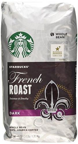 Starbucks French Roast Dark Whole Bean Coffee 100% Arabica Coffee 2.5 LB